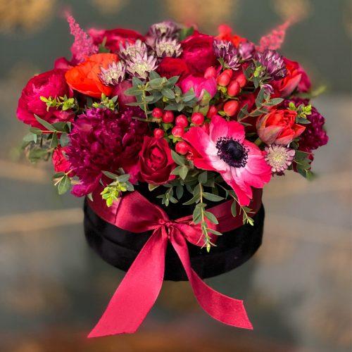 Cutie cu Flori Rosii - Passion Box
