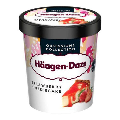 Haagen Dazs Inghetata cheesecake cu sos de capsuni si biscuiti 400g